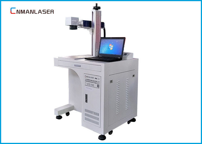 Auto Parts Buckles Cylinder Metal Laser Marking Machine 20w 30w With Sliding Table